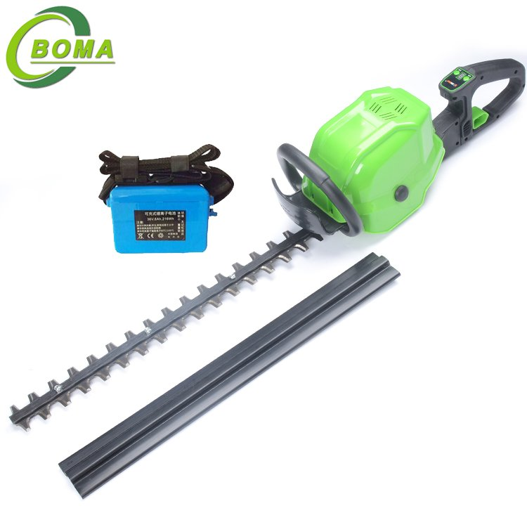 BOMA 6AH Wholesale Cordless Electric Hedge Trimmer of Two Blade for Plant