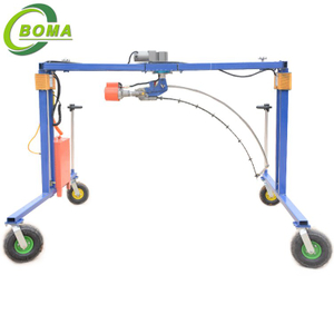 Automatic Shrub Trimming Machine with Wheels for Shearing Ball-shaped Trees and Bushes